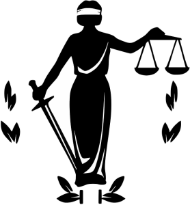 Lady Justice with blindfold